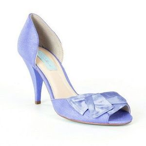 Blue By Betsey Johnson Lily Bow Peep Toe Pumps 7.5